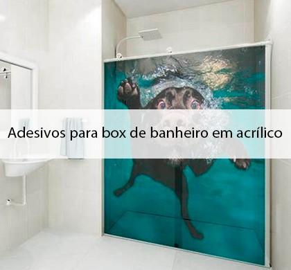 Adesivos para box de banheiro em acrílico