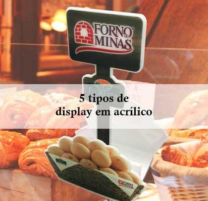 5 tipos de display em acrílico